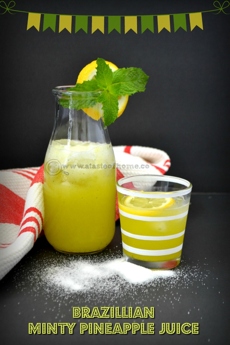 brazillian minty pineapple juice pintrest