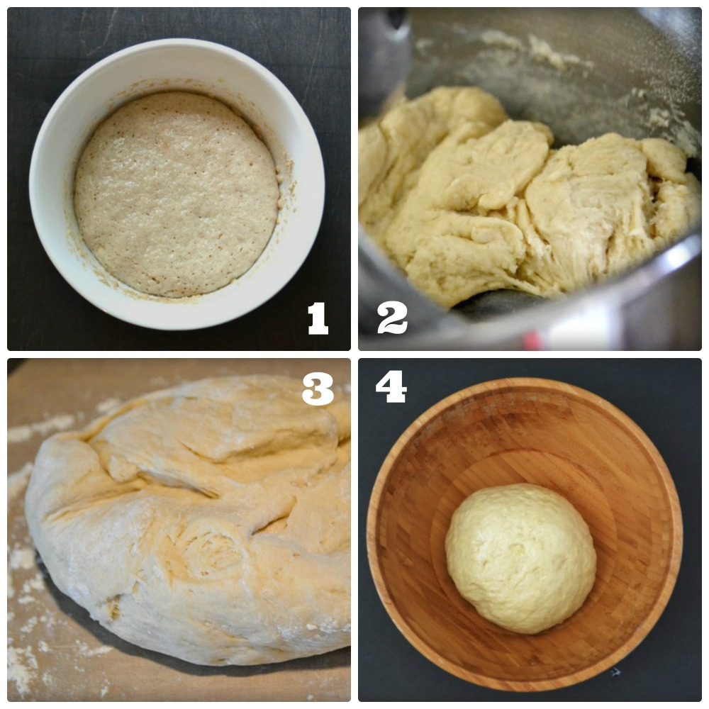 atasteofhome.co: cheese sfiha dough directions collage